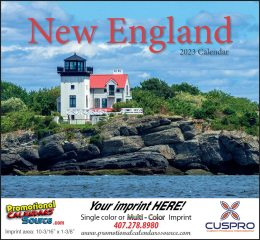 New England State Promotional Calendar 2018 - Stapled