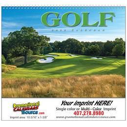 Golf Wall Calendar  - Spiral