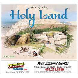 Art of the Holy Land Universal Promo Calendar 2018 - Stapled