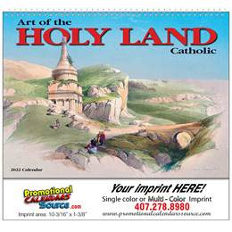 Art of the Holy Land- Catholic Wall Calendar 2018 - Spiral