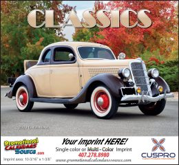 Automotive Classics Promotional Calendar 2019 Stapled