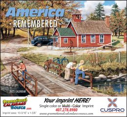 America Remembered Promotional Calendar 2019 Stapled