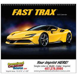 Fast Trax Wall Calendar 2019 - Spiral