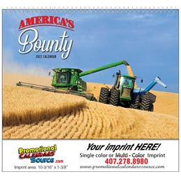 Americas Bounty Promotional Wall Calendar Spiral