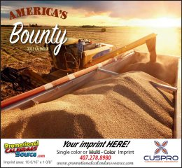 America's Bounty Promotional Wall Calendar 2019 Stapled