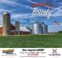 Americas Bounty Wall Calendar Stapled