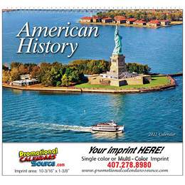 Great Symbols of American History Promotional Calendar 2018 Spiral