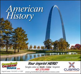 Great Symbols of American History Wall Calendar 2018 Stapled