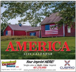 America Wall Calendar  - Spiral
