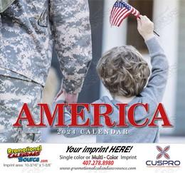 America Promotional Calendar 2019 - Stapled
