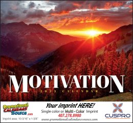 Motivation Promotional Wall Calendar 2019 Stapled