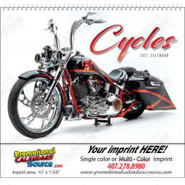 Custom Cycles Promotional Calendar 2018 - Spiral