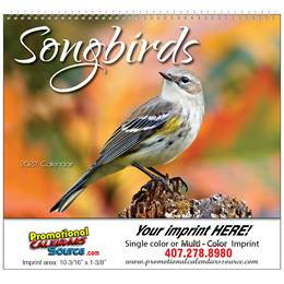 Nature's Songbirds Promotional Calendar 2019 Spiral