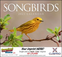 Nature's Songbirds Promotional Calendar 2019 Stapled