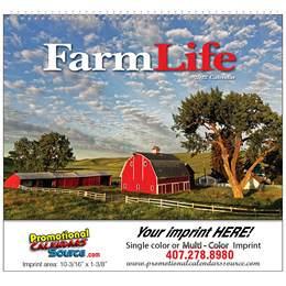 Farm Life Promotional Wall Calendar w Spiral Binding