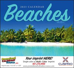 Fabulous Beaches Wall Calendar 2018, Stapled, Exotic Beaches, Personalized