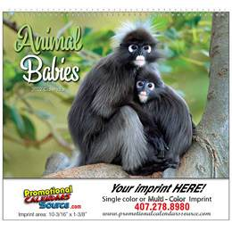 Animal Babies Promotional Calendar 2019 - Spiral