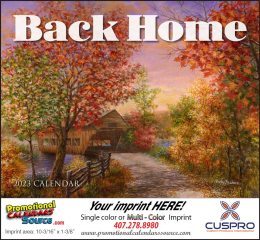 Back Home Promotional Calendar 2019 Stapled