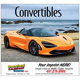 Convertible Cars Promotional Calendar, 2019, Stapled