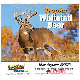 Whitetail Deer Promotional Calendar  - Spiral