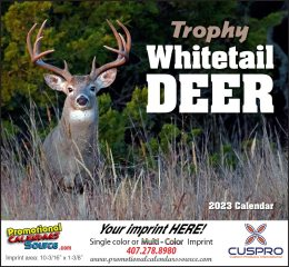 Whitetail Deer Wall Calendar  Stapled