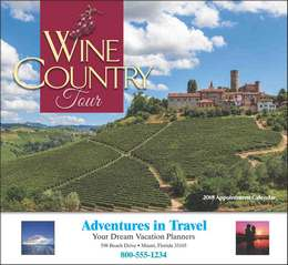 Wine Country Tour Promotional Calendar 2019 - Stapled