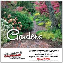 Gardens Mini  Promotional Wall Calendar 2019