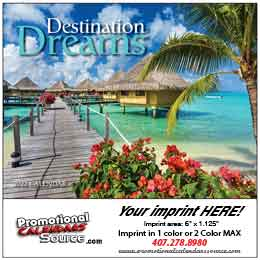 Destination Dreams Mini Promotional Wall Calendar