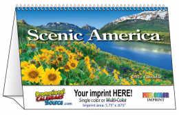 Scenic America Tent Desk Calendar 2019
