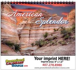 American Splendor Calendar w Spiral Binding