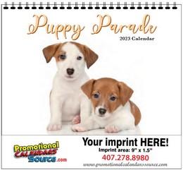 Puppy Parade Calendar w Spiral Binding