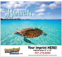 Tropical Beach Promotional Calendar 2019