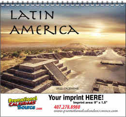 Latin America Promo Calendar w Spiral Binding