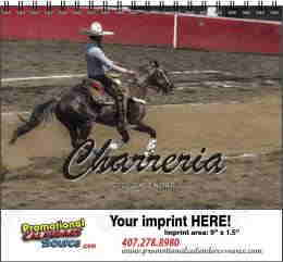 Charreria y Gallos Latino Calendar w Spiral Binding