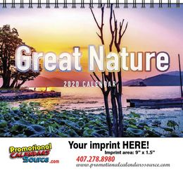 Nature Scenic Calendar w Spiral Binding
