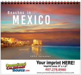 Costa De Mexico Scenic Calendar w Spiral Binding