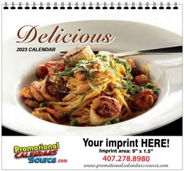 Delicious Cooking Recipes Calendar w Spiral Binding
