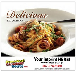 Delicious Recipes Promotional Calendar Stapled