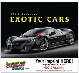 Exotic Cars Promotional Calendar