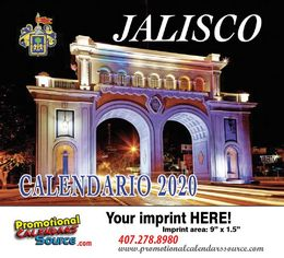 Jalisco Promotional Calendar 2019 Calendario