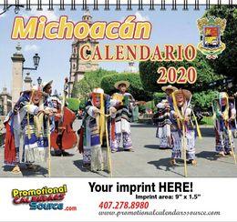 Michoacan Calendar w Spiral Binding