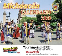 Michoacan Promotional Calendar 2019 Calendario