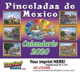 Pinceladas De Mexico Promotional Calendar 2019 Calendario