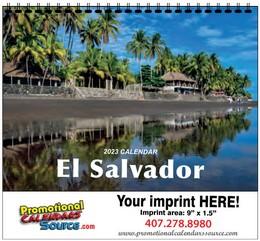 El Salvador Calendar w Spiral Binding