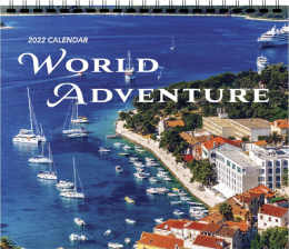 World Adventure 3-Mont View Calendar 13.5 x 25.5