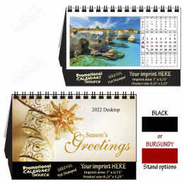 Tropical Paradise Tent Desk Calendar - Gold Foil Ad