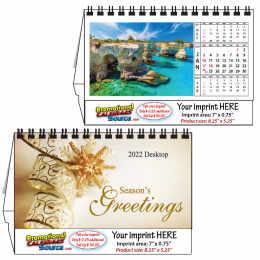Tropical Island Desk top  Calendar