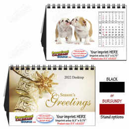 Puppies Dogs Large Desk Tent Calendar, 9.5