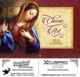 Funeral Home Classic Art  Religious Calendar with Funeral Preplanning insert option