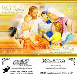 Catholic Faith (Bilingual English-Spanish) Calendar with Funeral Preplanning insert option